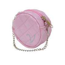 Poo Bag Holder Round w Chain - Pink