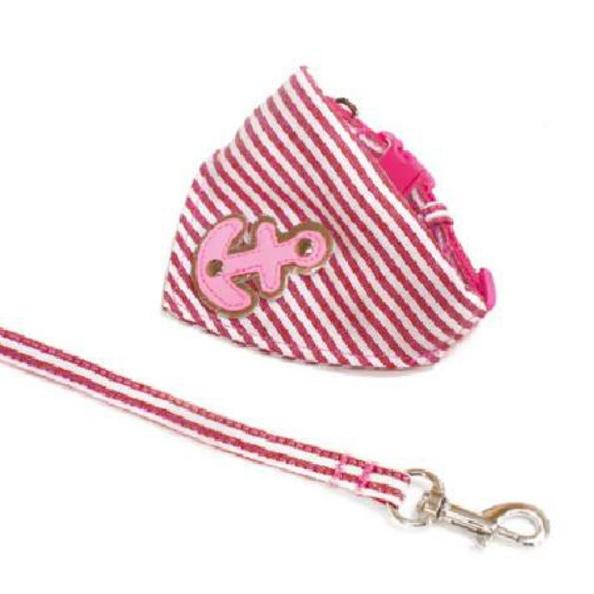 Marine Set Bandana & Leash Adjustable - Pink