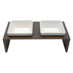 Maebashi Double Bowl Wooden Table - Brown