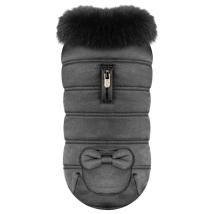 Coat Volly w Fur Collar - Black