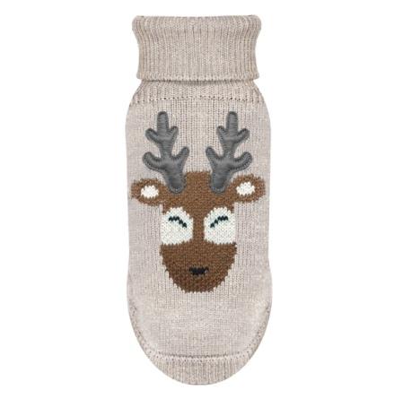 Sweater Santa Deer - Beige