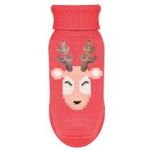 Sweater Santa Deer - Soft Red