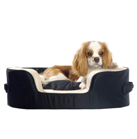 Anthon Dog bed - Black/Beige