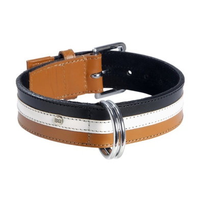 Striped Collar - Brown/White/Black