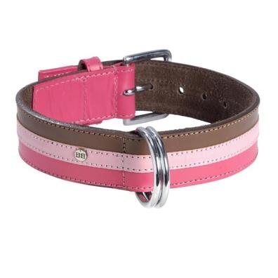 Striped Collar - Brown/Pink