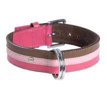 Striped Collar - Brown/Pink