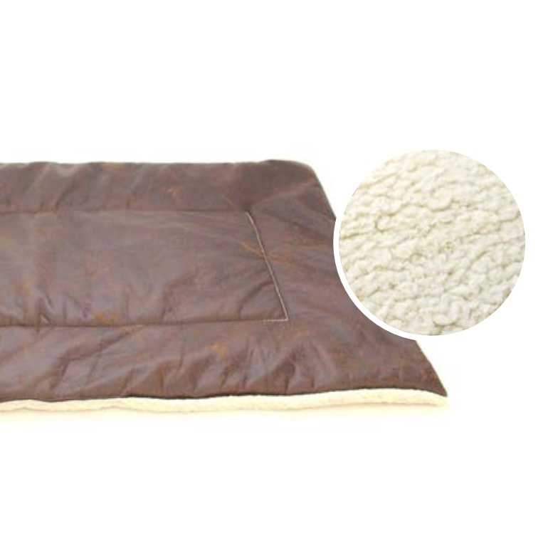 Kensington Blanket w Plush Lining - Brown 100x70cm