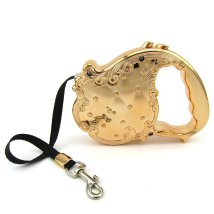 Elegant Retractable Leash - Gold