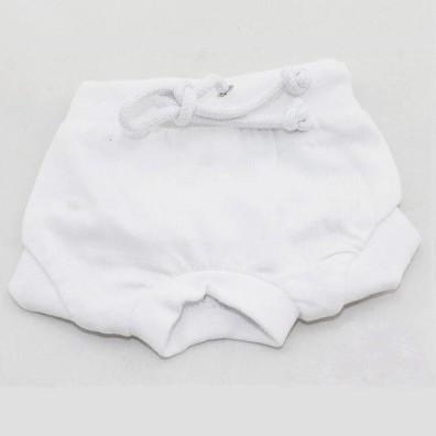 Sanitary Pant w Drawstring - White