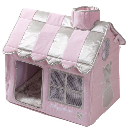 Luxury Living Cat Villa - Pink  52x36x49cm
