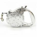 Elegant Retractable Leash - Silver 3m max 10kg