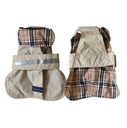 Trench Beige Checked Lining - Beige
