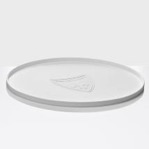 Round Soft Non-slip Placemat - White Diameter:39,5cm