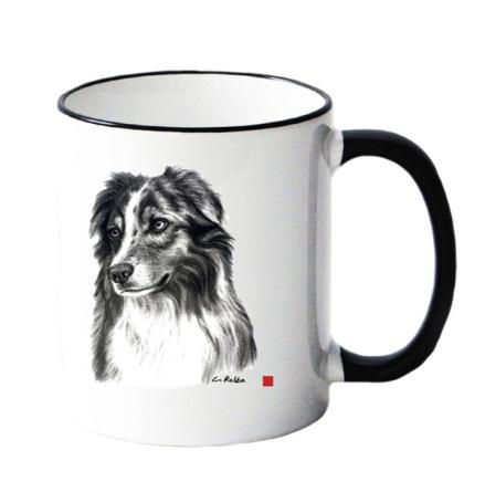 Mug w Collie 8,5x10cm