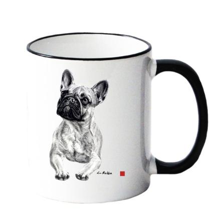 Mug w French Bulldog 8,5x10cm