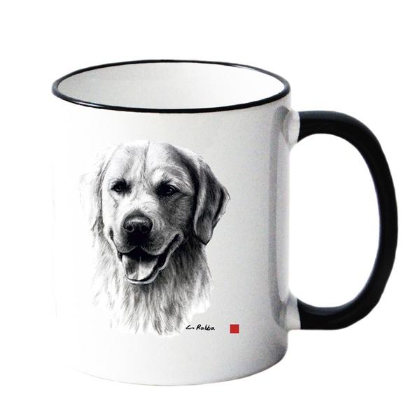 Mug w Golden Retriever 8,5x10cm
