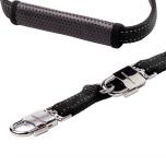 Adjustable Neoprene Leash w Confort Gripp - Black