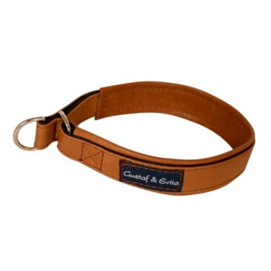 Leather Half Check - Gognac