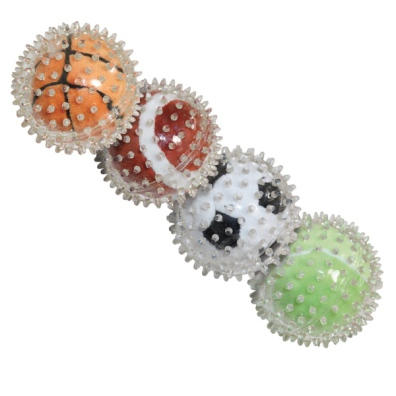 Soft Rubber ball w soft Ball Inside - Mixed Colors