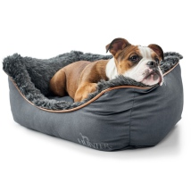 Dandy Cozy Bed w Fur - Dark Petroleum/Grey