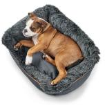 Dandy Cozy Bed w Fur - Dark Petroleum/Grey
