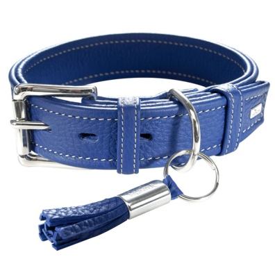 Montignac Leather Collar - Blue