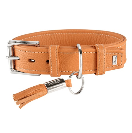 Montignac Leather Collar - Orange