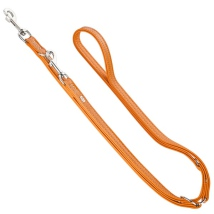 Montignac Leather Leash - Orange L:200cm W:15mm