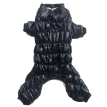 Rainproof 4legged Overall w Fluffy Lining - Black