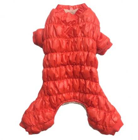 Rainproof 4legged Overall w Fluffy Lining - Orange