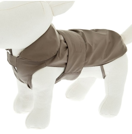 Rainproof Coat w Detachable Pile Lining - Taupe
