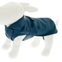 Rainproof Coat w Detachable Pile Lining - Blue