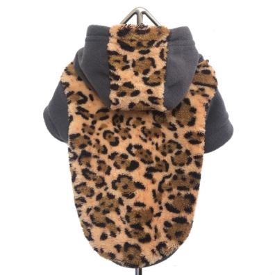 Cosy Plush Hoodie - Leopard