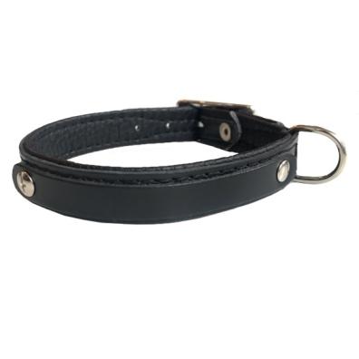 Leather Charm Collar - Black