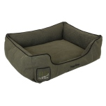 Canvas Bed w Croco Pattern - Green Khaki