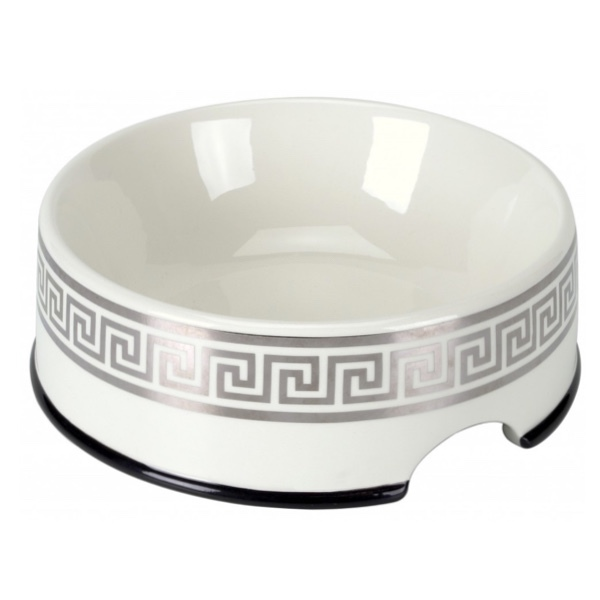 Porcelain Bowl Cairo - White/Silver