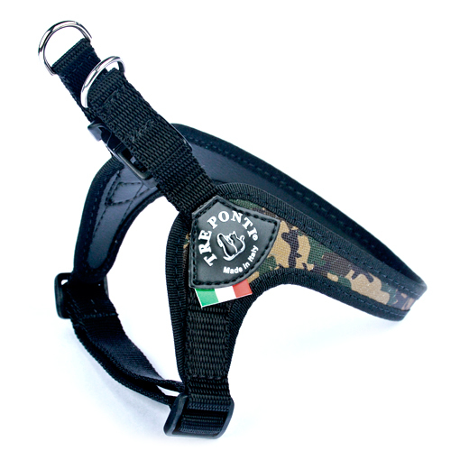 Roma Harness w Buckle and Adjust. Chest Strap - Camo