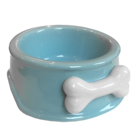 Ceramic Bowl with Bone - Blue