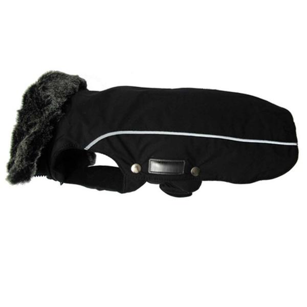 Narvik Fleece Coat Fur Collar - Black