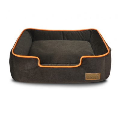 Aron Plush Bed - Brown