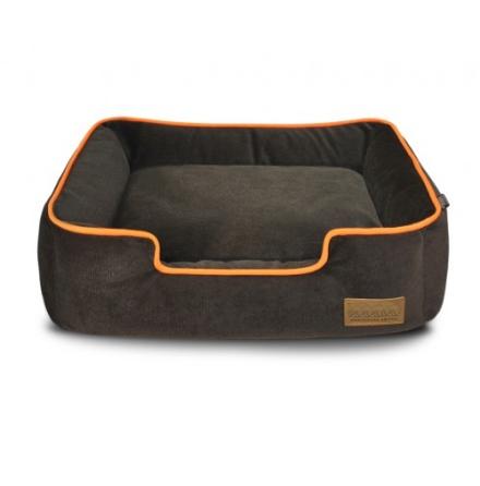 Aron Plush Bed - Brown