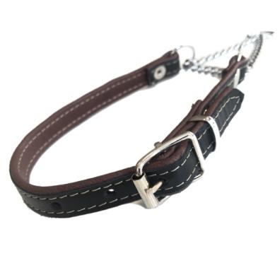 Leather Half Check- Black/Brown