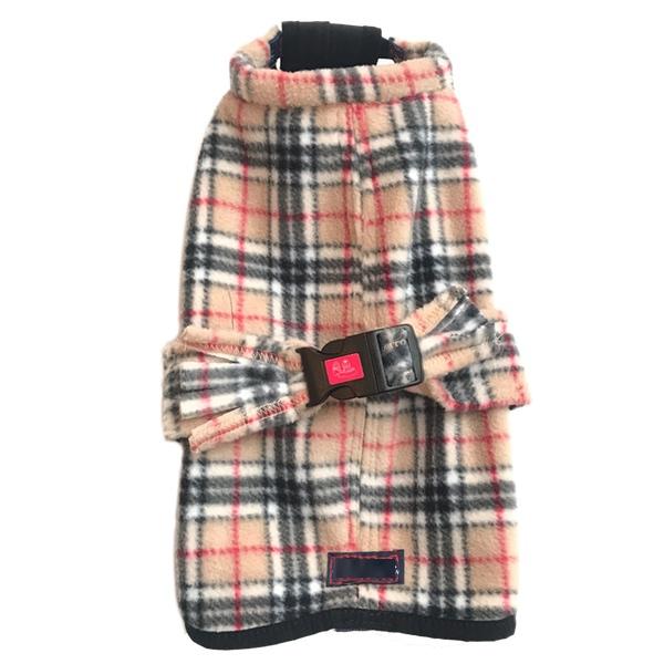 Fleece Coat - Checked Beige