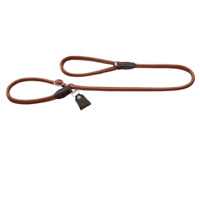 Connor Soft Round Retreiver Leather Leash - Cognac