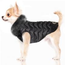 Durham Coat w Fur Collar - Black