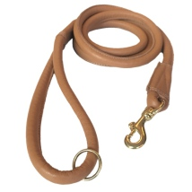 North Cape Elk Leather Leash Brass Buckle - Tan