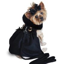 Vanja Wool Coat w fur collar w leash
