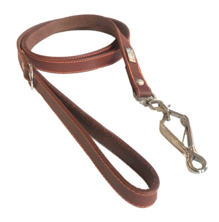 Leather Leash - Brick/Brown