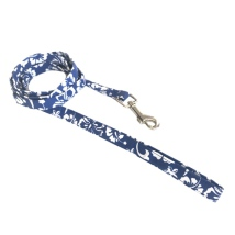 Maui Texile Leash w Floral Pattern - Blue/White