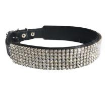 Royal Swarovski Crystal Collar - Black/Clear